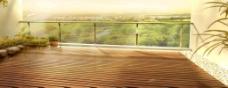 淘宝天猫海报背景设计阳台植物装修