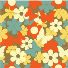 炫彩花朵拼接背景