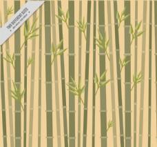 扁平风格竹子背景