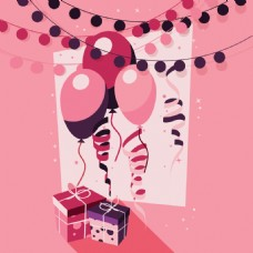 粉红色的生日背景