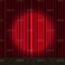 红色帷幕背景舞台矢量素