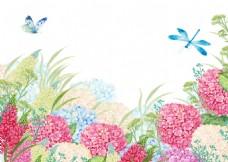 手绘一幅挂墙水墨风景画JPG背景素材