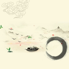 中国风水墨茶叶茶文化背景