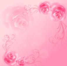 梦幻花朵玫瑰花背景墙图片