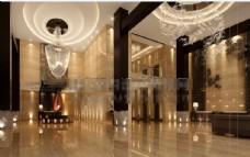 酒店大堂3d源文件素材下载