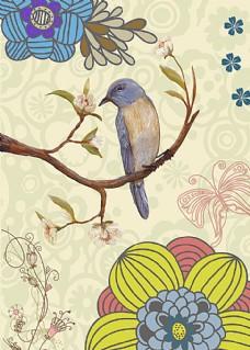 花鸟蝴蝶油画
