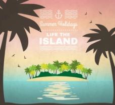 夏日椰林岛图片