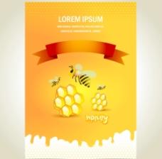 蜂蜜海報設計圖片
