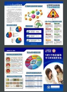 个性化学习培训教育机构宣传单cdr素材