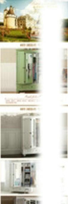 美式乡村三门衣柜详情描述图片