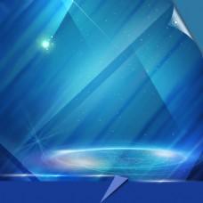 蓝色科技素材模板
