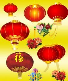 年货节 新年素材 红灯笼