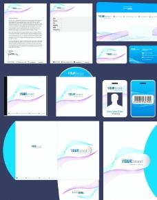 蓝色简约VI设计图片