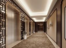 酒店电梯间图片