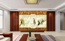 室内设计现代简约客厅电视背景墙