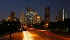 休斯顿城市夜景图片