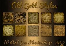 黄金立体颗粒图案金属样式