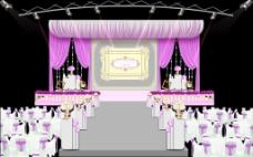 紫色主舞台