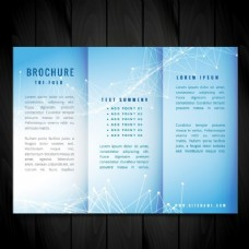蓝色矢量宣传册设计指南