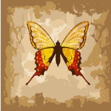 复古蝴蝶矢量图素材
