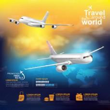 科技的客机广告矢量素材