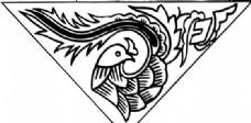 凤凰 凤纹图案 鸟类装饰图案 矢量素材 CDR格式_0104