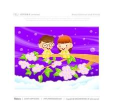 漫画儿童 卡通儿童 矢量 AI格式_0978