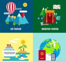 度假旅行插画
