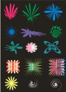 图案  花朵  变型图