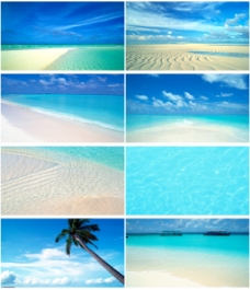 蔚蓝海水背景图
