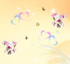 矢量背景蝴蝶花