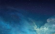深藍天空星點點背景風景圖