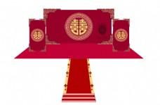 中式婚礼主背景