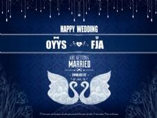 浪漫婚禮背景素材