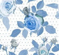 蓝玫瑰无缝背景