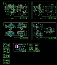 云蝶A别墅施工图CAD图纸