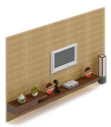 现代电视墙