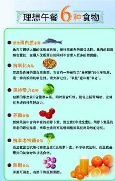 理想午餐6种食物图片