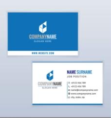 竖式与横式的商务名片设计矢量素图片