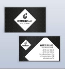 竖式与横式的商务名片设计图片