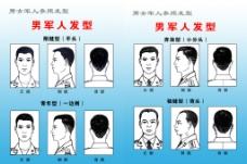 军人发型图图片