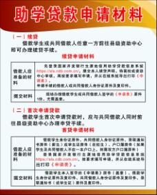 助学贷款指南申请材料