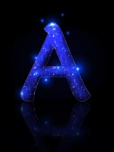 水晶字母psd下载