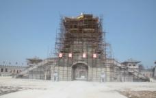 正在建设的古代建筑图片