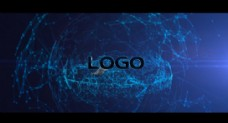 三维空间能源网格logo标志展现