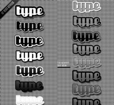 另类风格镂空特效立体字样式