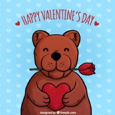 说明泰迪熊情人节