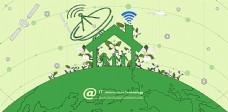 绿色地球的幸福一家人