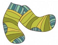 卡通黄色袜子png元素