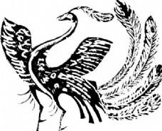凤凰 凤纹图案 鸟类装饰图案 矢量素材 CDR格式_0087